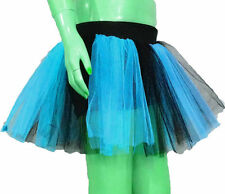 Blue Torques Black Tutu Skirt Dance fancy costume Birth day Halloween Party