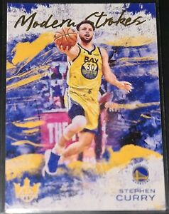 Stephen Curry 2020-21 Panini Court Kings MODERN STROKES Insert Card (no.5)