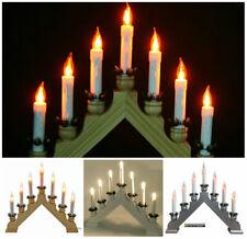 Large Wooden Flickering LED Candle Bridge Indoor Window Table Decoration 240v