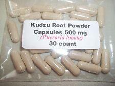Kudzu Root Powder Capsules ( Pueraria lobata) 500 mg. - 30 Count