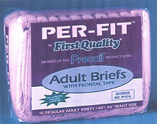 80 Prevail Per-Fit Adult Disposable Briefs, Cloth-Like, Size Regular, Diapers