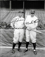 Babe Ruth Lou Gehrig Photo 8X10 - Autographed Repro 1927 New York Yankees B&W