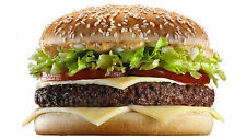 "Poster 24"" x 36"" Cheeseburger Burger Cheese Bun"