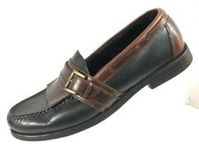Sperry Men's Black/Brown Leather Boat Kilt Tassel Moc Toe Loafer Shoe Size 9M