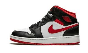 Nike Air Jordan 1 Mid Gym Red Black White DJ4695-122 (GS)
