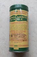 Ancienne boite Métal Tole Verte Jaune Formocarbine Granulés Pharmacie Vintage