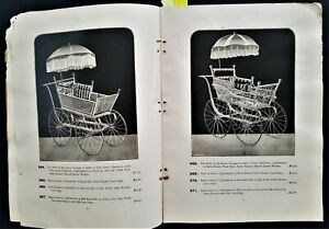 1894 antique victorian BABY CARRIAGE CATALOG baltimore md wagon toy prices