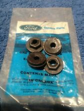 "NOS Ford 3/16"" Emblems/Molding Nuts (4) 60-70 Mustang Galaxie Falcon T-Bird"