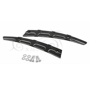 2 Pcs Black Windshield Side Trim Set For Harley CVO Road Glide Special FLTRXS
