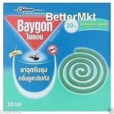 Baygon Mosquito Coil Mosquito Repellent 10 Coils Eucalyptus Scent Repel Mosquito