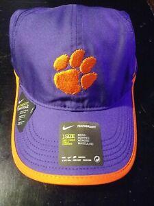 Nike Clemson Tigers Blue/Orange Authentic Team Issue Featherlight strapback hat