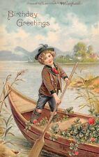 Swiss Alps Boy Guides Boat~Pink Clover & Shamrocks~Green Hat~Short Pants~Emb~EAS