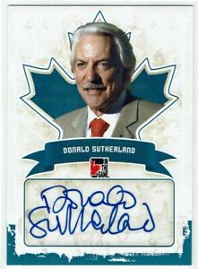In the Game Canadiana 2011 Autograph Card A-DS2 Donald Sutherland Hunger Games