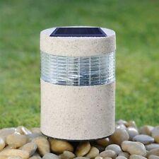 Piedra De Energía Solar Poste Luz LED Recargable Luz De Piedra Para Exteriores Jardín Luz