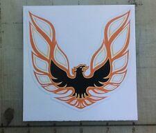 """Vintage Trans Am 1973-1975 orange/black sticker decal 4""""x4"""""""