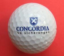 Pelota de golf con logo-concordia seguros-golf logotipo Ball como amuleto