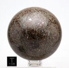 HUGE Stone Meteorite CARVED Sphere NWA 869 Display Specimen Crystal carving rock