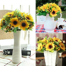 14Heads Beauty Fake Sunflower Artificial Silk Flower Bouquet Home Party Decor