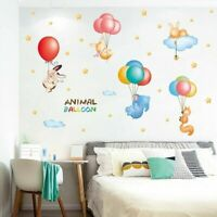 Animal Balloon DIY Wall Stickers Nursery Kids Room Removable Mural Decal Decor