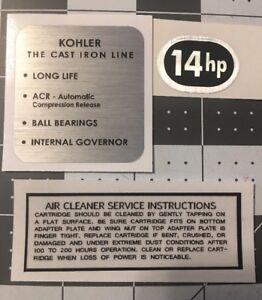 Kohler Engine 14-HP Early Style Cub Cadet John Deere Oval HP Set 3