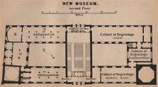 Nouveau musée neues museum second floor plan. berlin karte. baedeker. petite carte de 1900