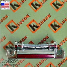 Kluson CORDIER BRONZE STOP TAILPIECE BELL BRASS US Style GIBSON KLP-1178C CHROME
