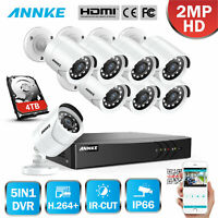 ANNKE 8CH 1080N DVR 3000TVL 1080P Bullet Outdoor CCTV Security Camera System APP