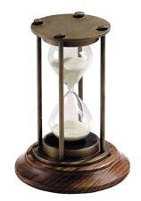 G526: nobile Maritime glasenuhr, 30 minuti ore vetro di bronzo e in legno pregiato