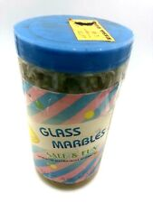 150 Glass Marbles In a Jar Kids Toys R US, Grand Sticker Pack 16mm & 1 25mm 1987