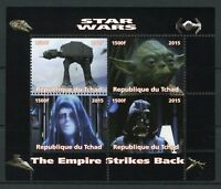 Chad 2015 MNH Star Wars Empire Strikes Back Darth Vader Yoda 4v M/S Stamps