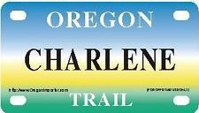 CHARLENE Oregon Trail - Mini License Plate - Name Tag - Bicycle Plate!