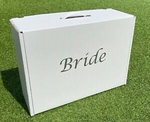 """Wedding dress travel & storage box """"Bride"""" in choice of colours"""