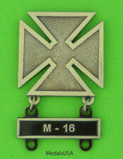 Army Marksman Marksmanship Badge with M-16 Qualification Attachment Bar