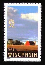 US Single - Sc #3206 - 32c - Wisconsin Statehood - MNH