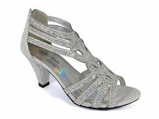 Women Evening Dress Shoes Rhinestones High Heels Platform Wedding Black Kimi-25