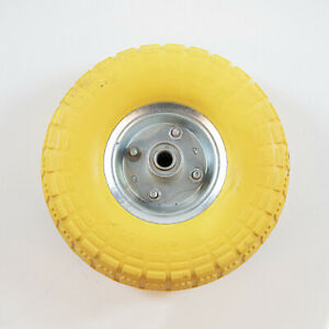 DAMAGED FAULTY 10'' SACK TRUCK WHEEL PUNCTURE PROOF SOLID TYRE BARROW CART