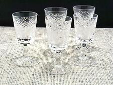 5 schöne alte Kristall Gläser für Likör
