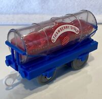 2008 STRAWBERRY SYRUP Tanker Car  - Thomas & Friends Trackmaster Train - VGUC