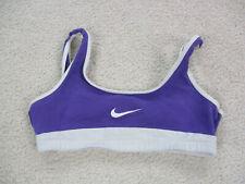 Nike Bra Women Medium Purple White Pull On Yoga Workout Sports Bra Casual Ladies