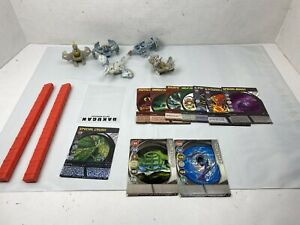 SpinMasters Bakugan - Lot of 5 Gray Haos Figures - With 10 Cards and Holders