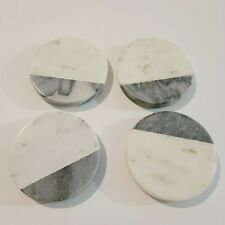 Import Com Round With Black/White Decorative Home Marble Coaster