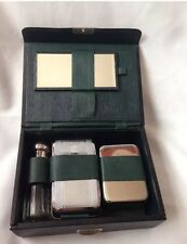 Vintage Man Dressing Table Set Chromium Plated Made In England
