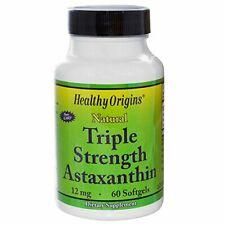 Healthy Origins Triple Strength Astaxanthin 12 Mg 60 Softgels
