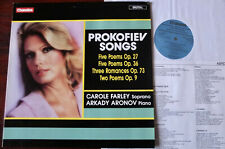 CHANDOS ABRD 1219 PROKOFIEV SONGS LP CAROLE FARLEY NM- (1987) DIG UK