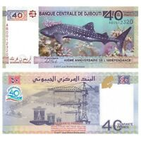 Djibouti 40 Francs 2017 Commemorative P-New Banknotes  UNC
