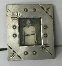 More details for wwii trench art small photo frame airman's mother made from aircraft aluminium