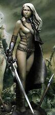 1:24 75mm Resin Figure Model Kit Sexy Girl Female Warrior Fallen Angel Unpainted