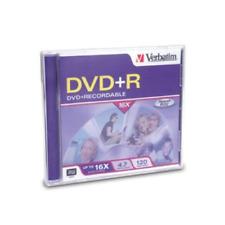 Verbatim DVD+R 4.7GB 16X 1-Pack Jewel Case