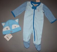 Baby boy clothes, 3-6 months, Gymboree, Striped wolf Sleep&Play w/matching hat