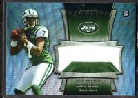 2013  Bowman Sterling Jumbo Relic Blue Rf Geno Smith Jets Jersey ROOKIE Card /99
